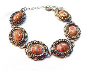Bracelet * romance graphic * warm colors