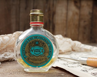 Perfume Bottle Blue & Gold Eau de Cologne Double of # 4711 Bloke Gasse