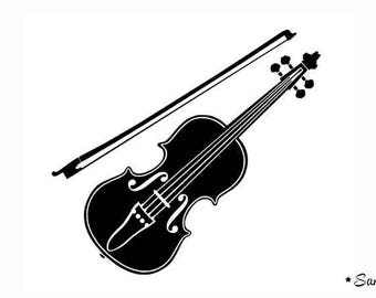 fusible applique violin