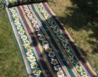Personal Beach, Patio, Picnic, Park, Camping Outdoor Mat/Blanket w/ Matching Tie on Pillow
