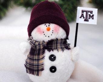 Texas A&M Snowman Ornament