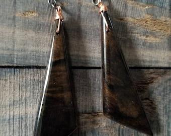 Ziricote / Walnut Earrings
