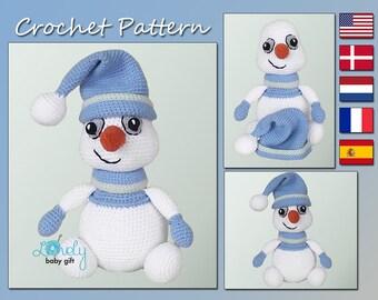 Amigurumi Pattern, Snowman Crochet Pattern, Christmas Crochet, CP-153