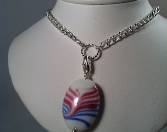 Beaded Jewelry - Gift for Her - Fashionable Jewelry - Ivory - Interchangeable Jewelry - Pendant - Interchangeable clasp