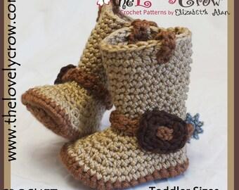 Crochet Pattern  Cowboy Boots Toddler Sizes