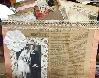 Altered and Stuffed File Folder