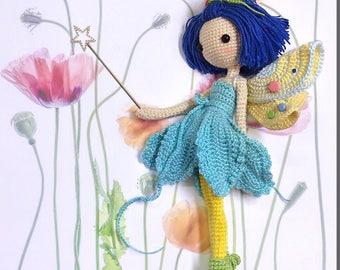 English: Crochet Doll Pattern-Fairy Iris 花仙子 艾丽