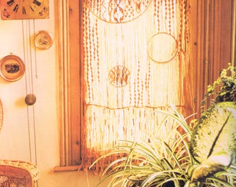 Vintage Macrame Pattern Curtain Window Panel Home Decor Furnishing Digital PDF Reproduction e Pattern Instant Download