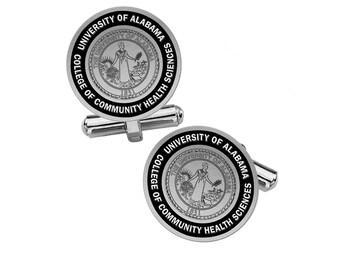 University of Alabama College of Community Health Sciences Cufflinks   University of Alabama School of Medicine    Sterling Silver