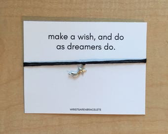 Custom Wishes Quote Wish Bracelet - Best Friend Gift - Make A Wish And Do As Dreamers Do