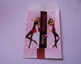 gift pouches, 10cmx6cm, glossy paper, pack of 10 pockets, various models
