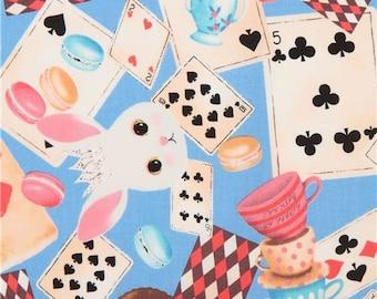 219756 macaron card bunny rabbit animal blue fairy tale fabric