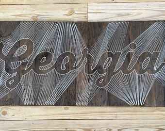 Custom Lettered String Art - Word and Phrase Wall Art
