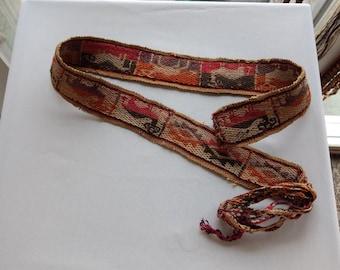 South American Andes Aymara belt / sash faja textile