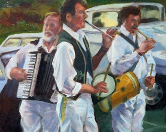 Three Musicians: Morris dance - original art