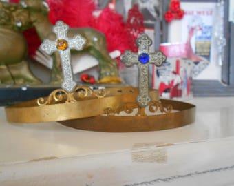 Beautiful French Crown/Diadem/Tiara with Cross