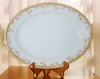 Bavarian Platter Vintage Z S & Co. Serving Piece Oval in Design Discontinued Pattern in Excellent Condition Matching Bowl Available