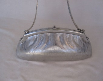 Judith Leiber Silver Minaudiere Shoulder Bag and Clutch - FREE SHIPPING
