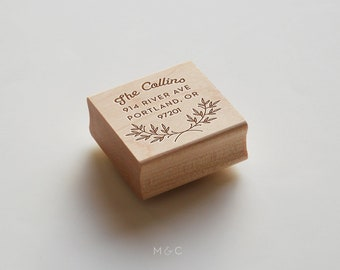 Garden Laurel  - Botanical Collection - Personalized Stamp