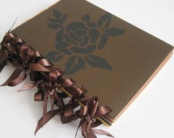 Chocolate & Cream Rose - blank notebook