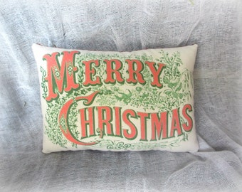 Holiday pillows | Christmas Pillow | Merry Christmas pillow | Vintage pillow | Holiday pillow | Vintage Christmas | Christmas decor