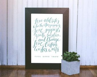 """Love Printable 11""""x17"""" Wall Art Print"""