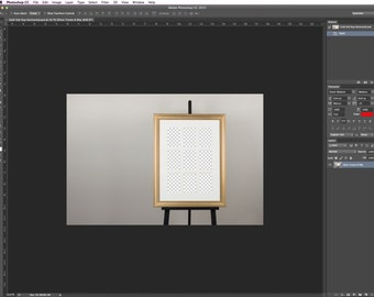 Gold Frame with 9up Mat on Easel - Product Mock Up - Photoshop CS3 - CS6
