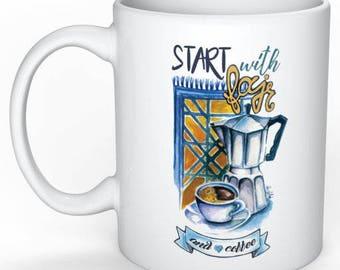 """Start with Fajr and coffee"" MUG"