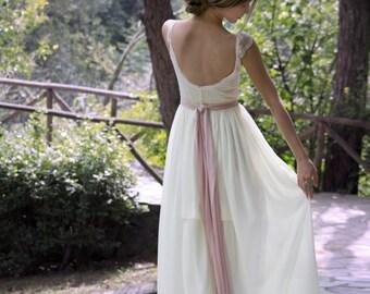 Wedding Dress, Gypsy Wedding Dress, Long Bridal Gown, Boho Wedding Dress, Bohemian Gown, Ivory Wedding Dress, Unique Gown, SuzannaM Designs