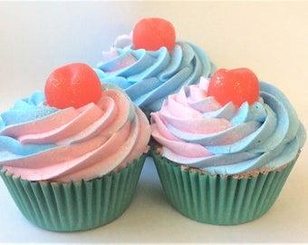 Cotton Candy bathbomb cupcake, bath bomb, bath soak, bath bombs, cupcake party, bath desserts, fun gifts, stocking stuffers