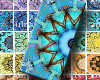 Chakra Mandalas 1x2,Printable Digital Image,Digital Collage,Healing Mandalas,Magnets,Gift Tags,Scrabble Tiles,Yoga, Meditation