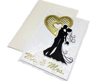 Handmade Wedding Card, Wedding Greeting Card, Wedding Greeting Cards to the Couple, Engagement Card, Congratulations Wedding Card