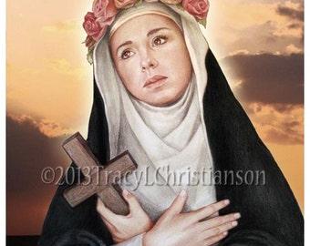 St. Rose of Lima Art Print Catholic Patron Saint #4164