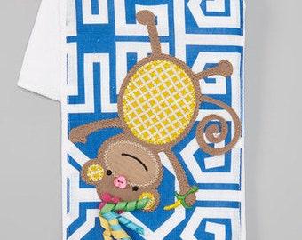 Mud Pie Monkey Burp Cloth - FREE MONOGRAM