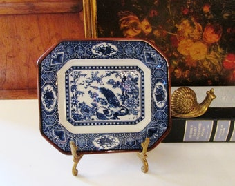 Chinoiserie Blue Decorative Tray, Blue and White Valet, Palm Beach Decor, Entry Table Dish, Blue and White Decor, Blue Willow, Imari