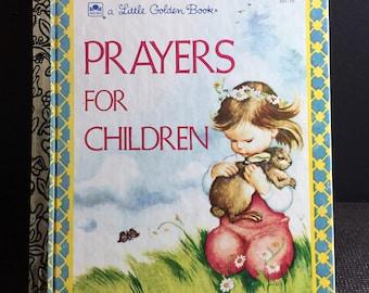 Vintage 1974 Little Golden Book - Prayers for Children - Hardcover Children's Book - Rare Vintage
