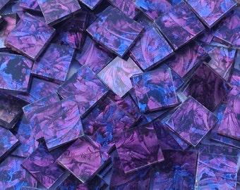 Blue Purple Van Gogh Glass Mosaic Tiles