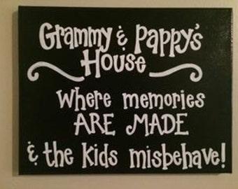 11x14 Customizable Grandparent Canvas