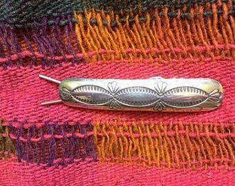 Vintage Native American Silver barrette