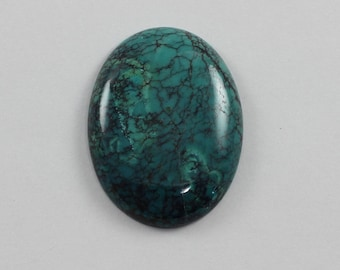 Turquoise Dyed Stabilized 30x40mm Oval Cabochon Lot 3 Destash Sale Discount Clearance