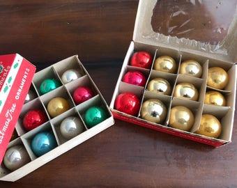 Mini Glass Christmas Tree Ornaments  - MulticolorMercury Glass Feather Tree Ornaments Shiny Brite and Japan