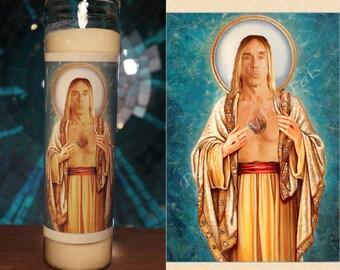 Saint Iggy Pop Prayer Candle / The Stooges Vigil Candle