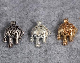 6 Pcs Gold / Silver Elephant Pendant, Mini Elephant Charms, Elephant Jewelry, Gold / Silver Charms