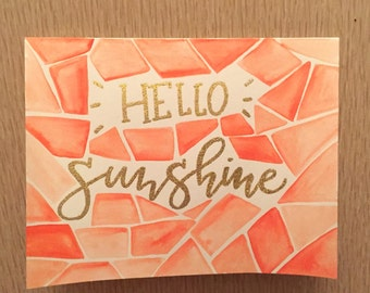 Hello Sunshine Mosaic Card