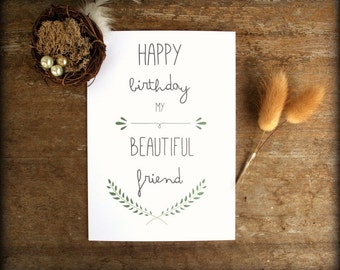 Homemade Birthday Cards For Best Friend ~ Best friend card bestie card birthday card valentines day