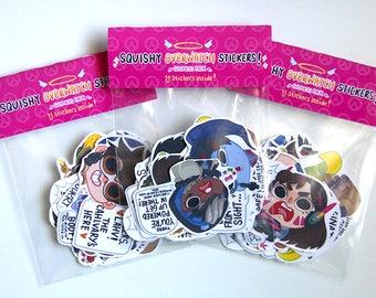 OW Goddess Sticker Pack- 11 Sticker Set D.VA/ Mei/ Pharah/ Symmetra/ Tracer/ Widowmaker/ Ana/ Zarya/ Mercy/ Sombra/ Orisa & Effi