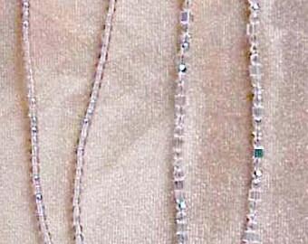 Crystal Ab Eyeglass Chain Holder Handmade with Swarovski Crystals Elements