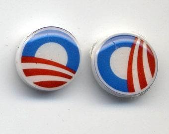 Obama Logo Post Earrings