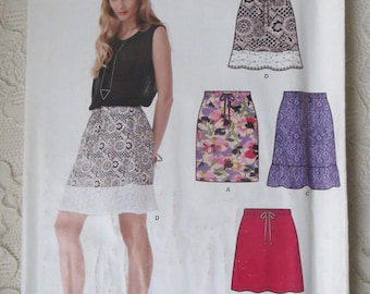 New Look 0182 Sewing Pattern Short Skirt in 4 Styles with Low Waist Womens Size A 10-22