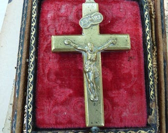Antique French Reliquary Cross, offered by RusticGypsyCreations